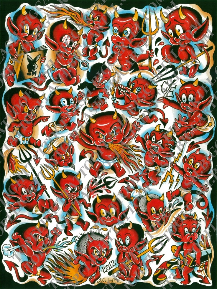 hot stuff devil flash page 18 x 24 by john collins my paintings and prints etc pinterest. Black Bedroom Furniture Sets. Home Design Ideas