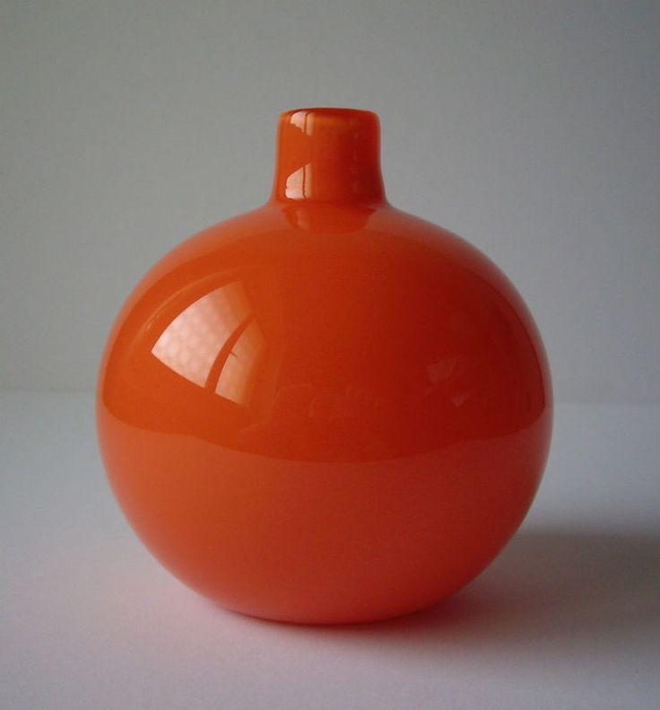 VENINI Murano Carlo Scarpa orange Soffiato vase