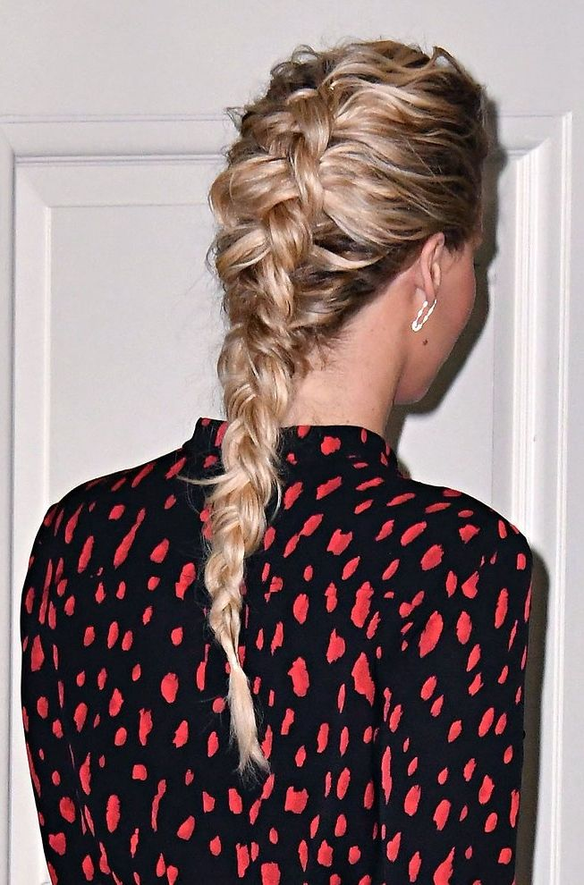 Jennifer Lawrence's bronzed glow and dutch braid combo is our beauty inspiration.
