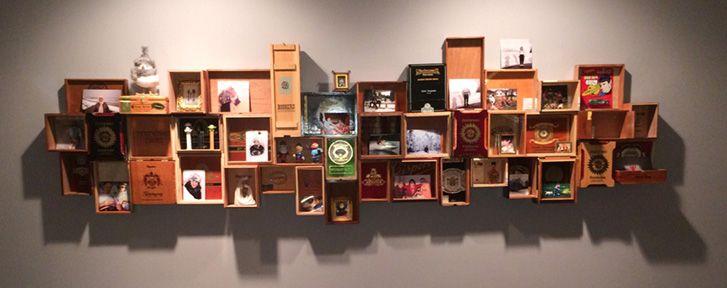 Cigar Box Shelving Unit                   by David Goodman
