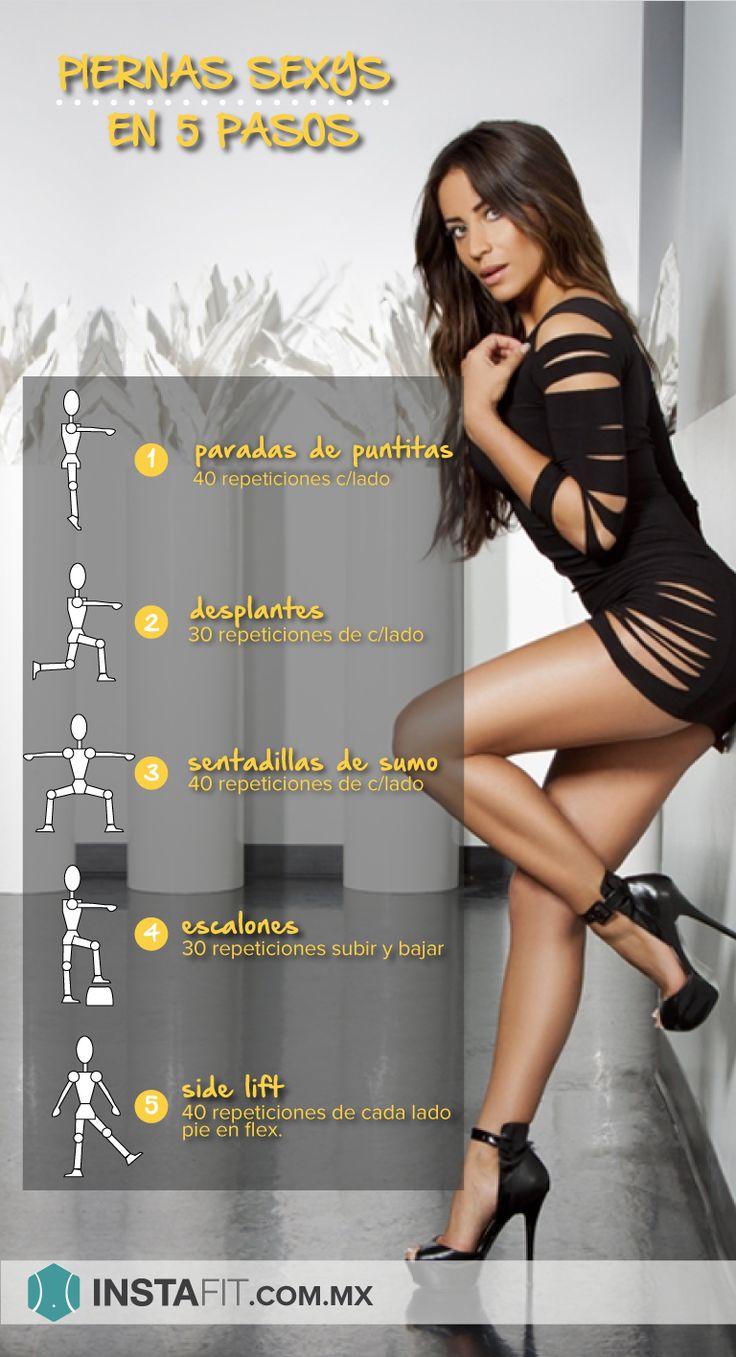 Rutina de ejercicio para piernas sexys y tonificadas. #sexylegs Más rutinas en…