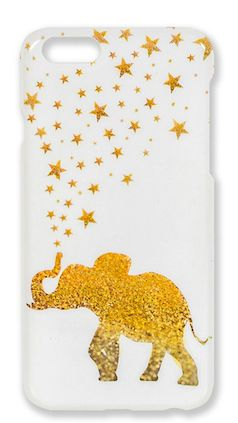 A fun and unique iphone case - gold elephant