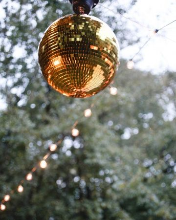 White and Gold Wedding. Midway Kentucky Wedding | Disco Dancing
