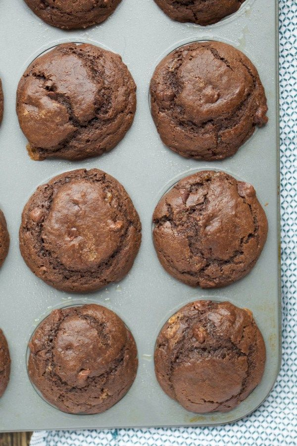 Double Chocolate Muffins- Are stuff with chocolate and are easy to make!
