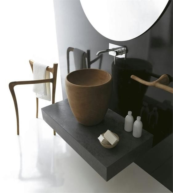 Ceramic and Solid Wood Bathroom Design Collection Rediscovering Simple Interior Design