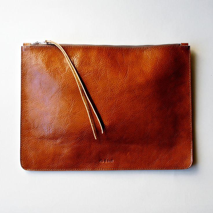 heirloom portfolio in cognac // rib & hull. Love this bag, and wish my machine sewed leather...