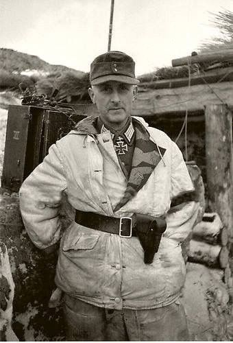 German Soldier in winter camouflage