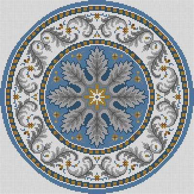 Round Oriental Susan Treglown mesh: 14:1 dimension: 14 x 14