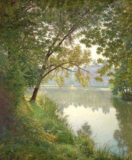 Henri Biva (1848-1929), Matin à Villeneuve - 1905/06.