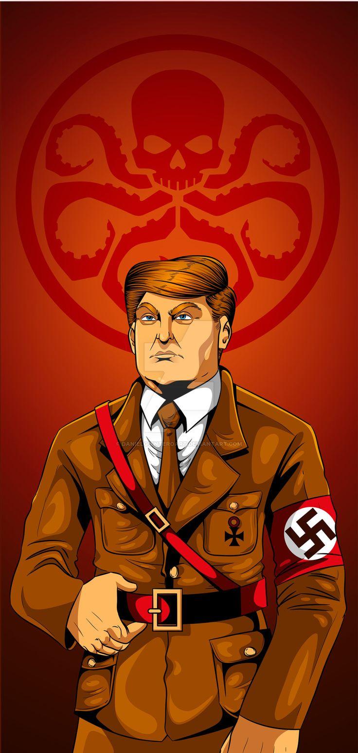 Trump Hail Hydra  #comic #comics #comiccon #comicart #comicbook #comiartist #illustration #illustrations #ilustradores #illustrator #trump #eeuu