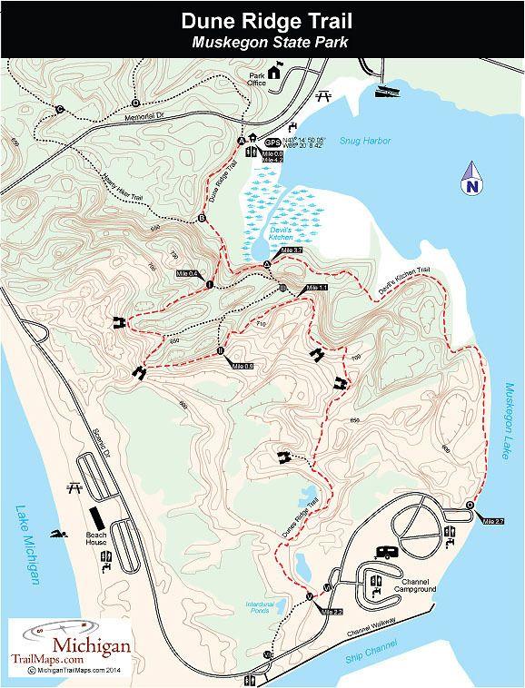 Muskegon State Park: Dune Ridge Trail - Michigan Trail Maps