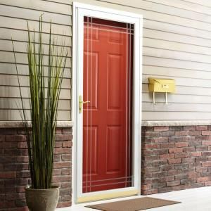 $237 Andersen, 2000 Series White Full View Etched Glass Storm Door, HD20V36WH at The Home Depot - Mobile
