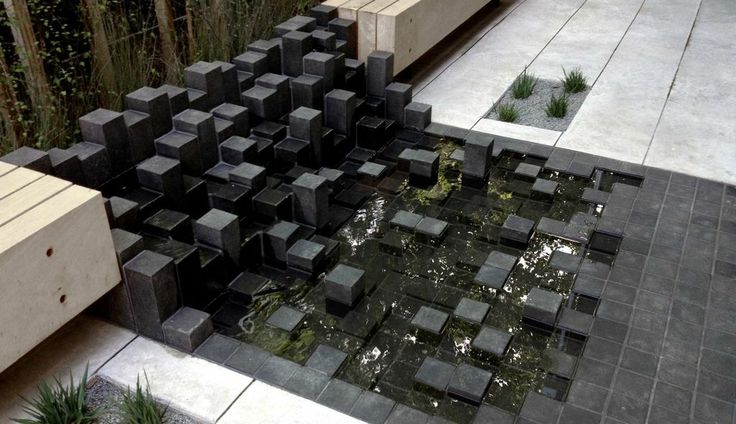water feature .... inspired by giants causeway??