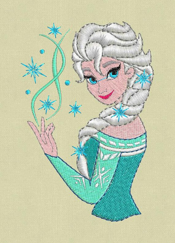 Elsa Frozen Embroidery design pes hus jef colour by ViolaFashion