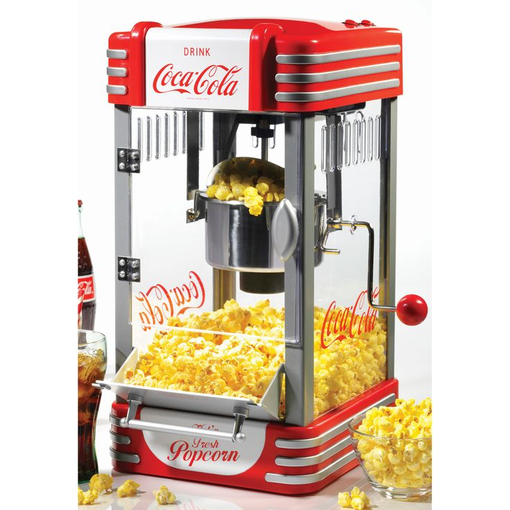 Nostalgia Electrics Coca-Cola Series Kettle Popcorn Maker