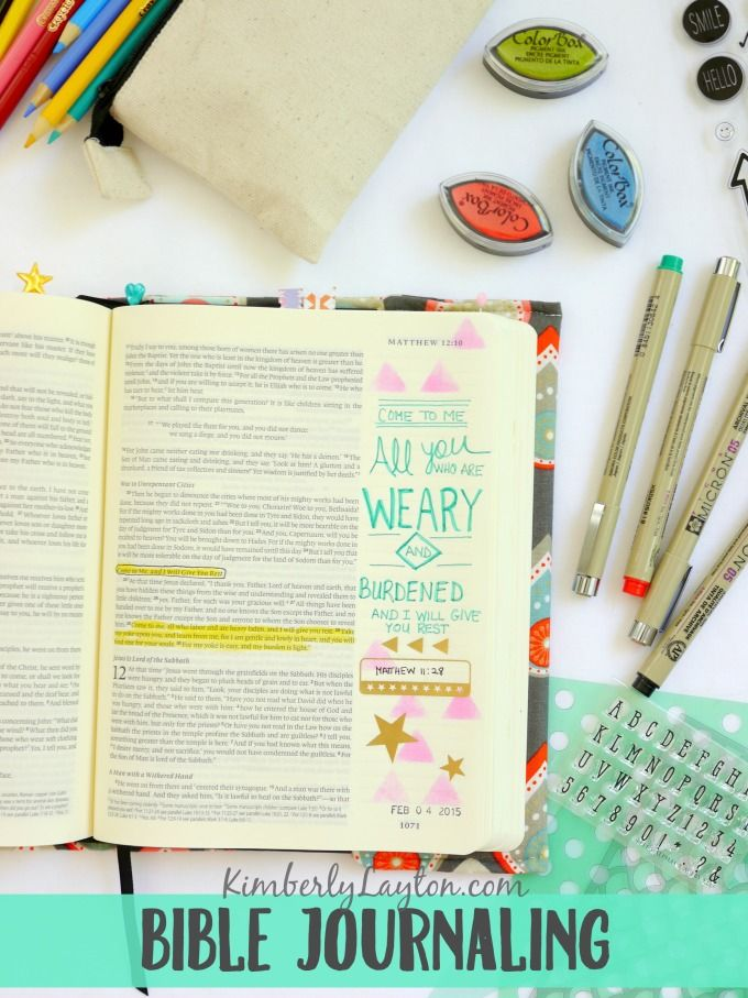 Bible Journaling...what is it??? A look inside my Bible. #BibleJournal