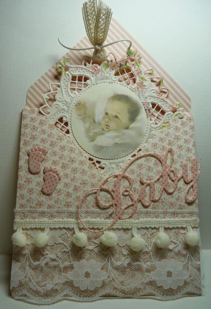 Anja Design: Babykaart meisje september 2014