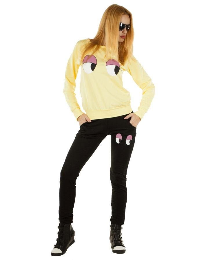 Trening Dama Cool  -Trening Dama  -Model cu imprimeu indraznet     Lungime bluza: 54cm  Latime talie bluza: 40cm  Lungime pantalon: 95cm  Latime talie pantalon: 32cm  Compozitie:100%Bumbac