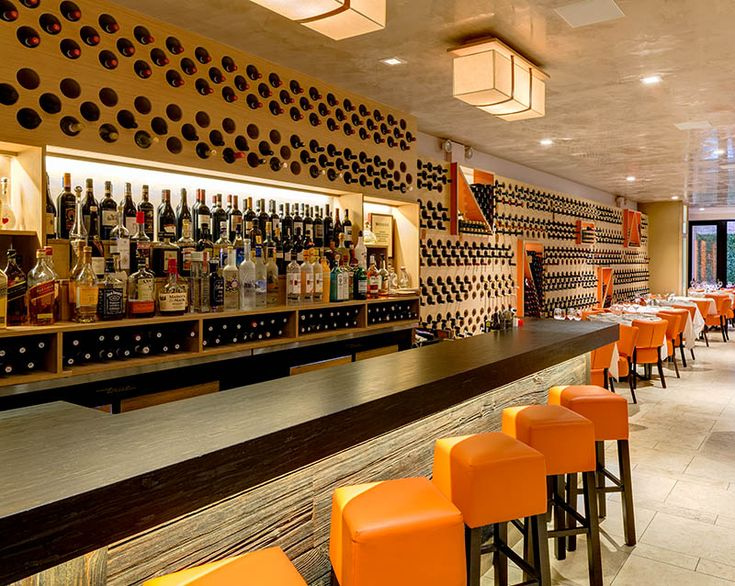 Design Detail – A Feature Wall Of Wine Bottles