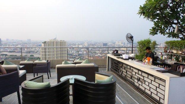 360 Rooftop Bar at the Millennium Hilton Bangkok Hotel, Thailand
