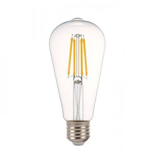 LED lámpa , égő , izzószálas hatás , E27 foglalat  , 4 Watt , meleg fehér , dimmelhető