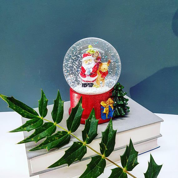 Personalised Snow Globe  Custom Santa Snow Globe  Father