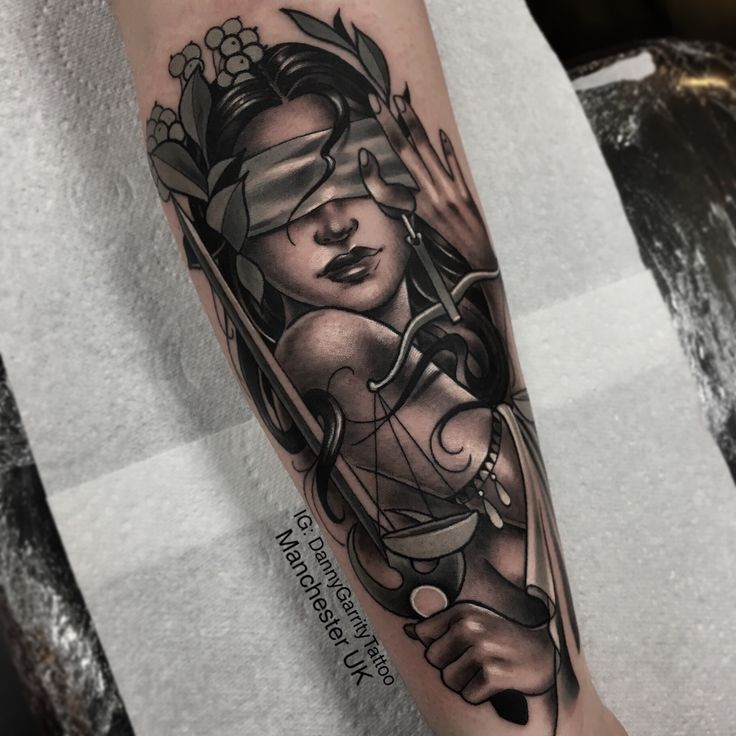 Themis lady justice tattoo  – Tattoos
