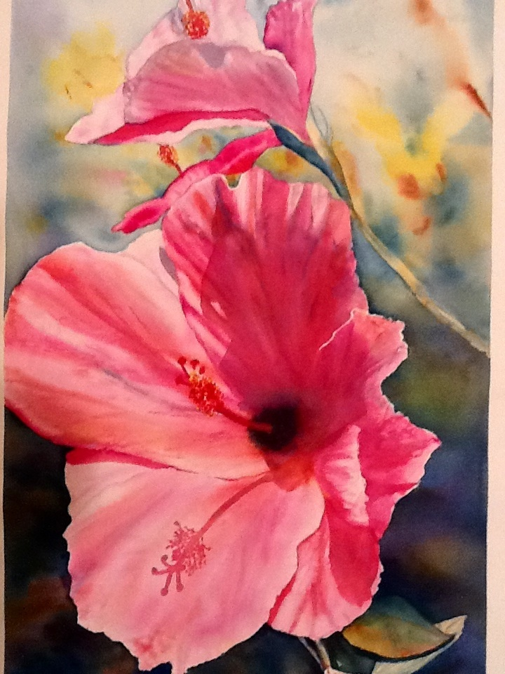 Hibiscus This is one of my favorite paintings. By Cindy Rashid