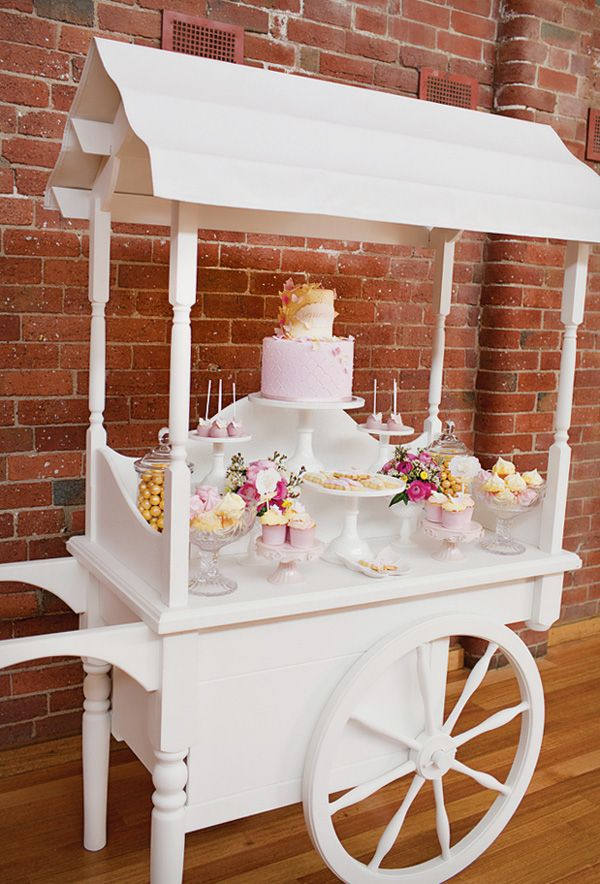 Love the idea of using a wagon for a dessert table convert the bev. cart we have in the LR into this