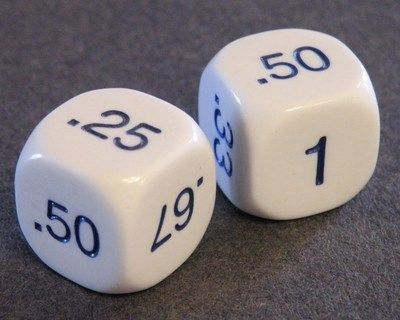 Math: Set Of 2 DECIMAL DICE + 7 Games And Activities.