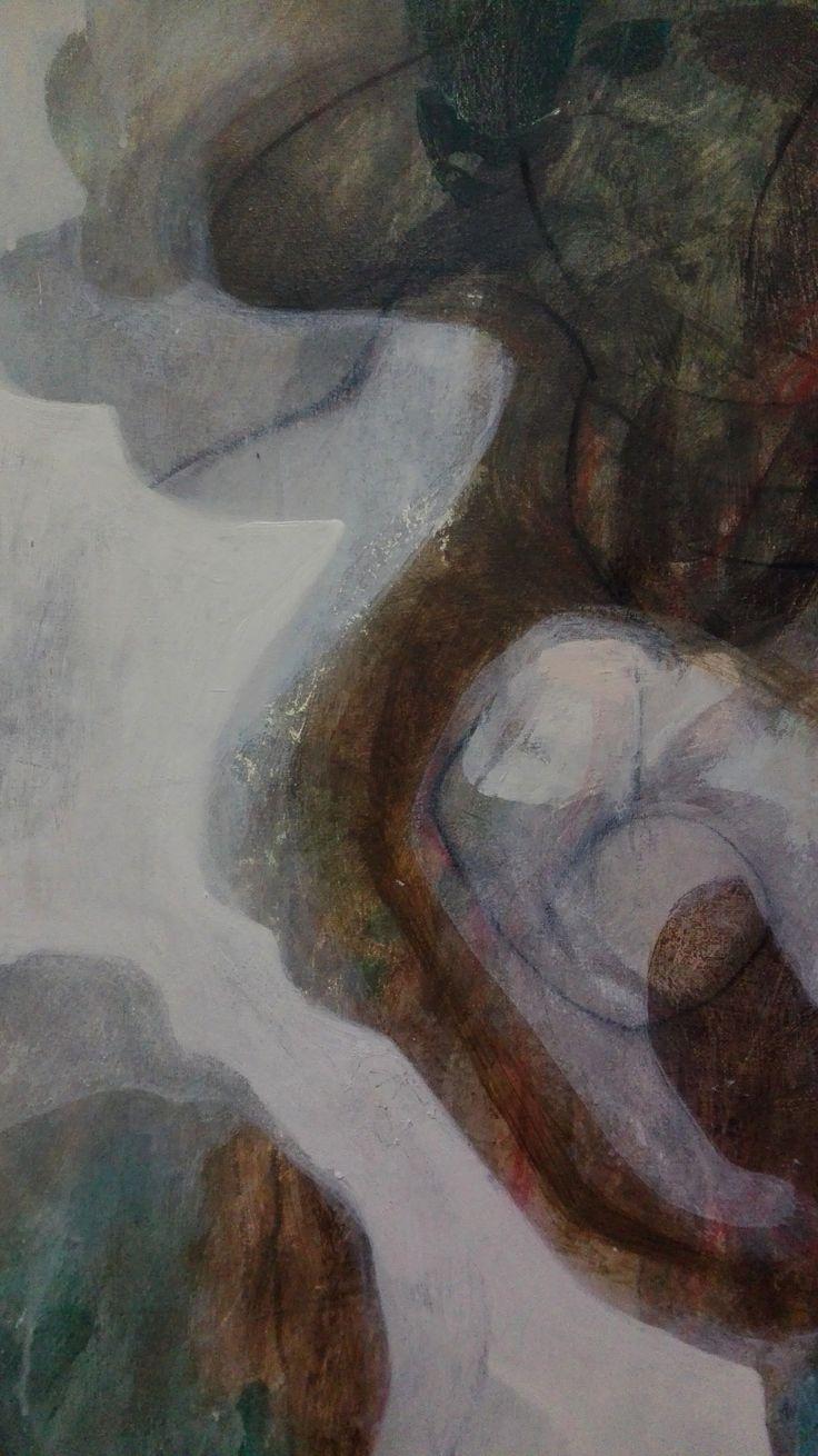 Work In Progress Diletta Boni 2017 - Untitled - Arylic on canvas - Detail