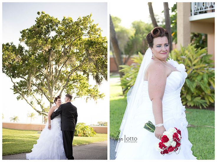 Bride's pin curled hair for her wedding day  Danie and Frank | Safety Harbor Spa Wedding with a Star Wars theme