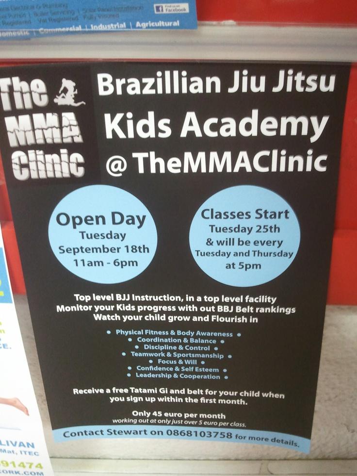 Brazillian Jiu Jitsu open Tuesday Sept 18th 11 am to 6 pm