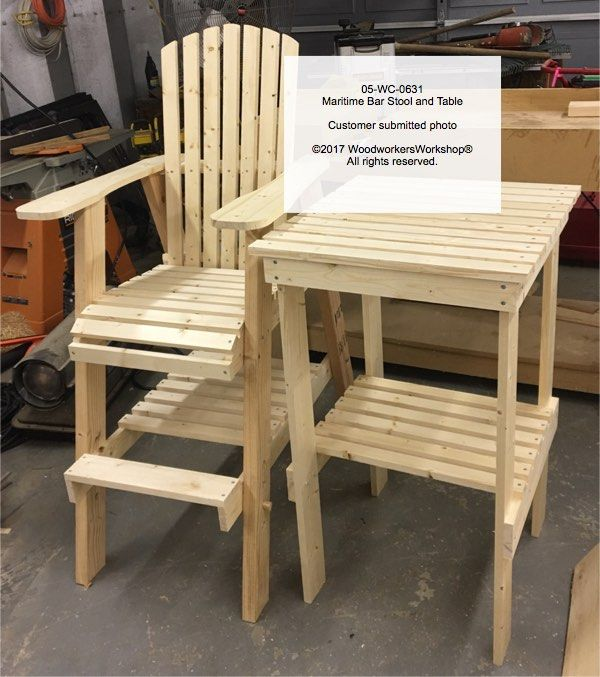 adirondack chair plan swivel millberget review maritime bar stool and table combo full size woodworking plans | make it carpentry pinterest ...