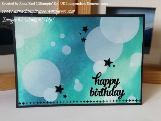 Easy Peasy Bokeh Technique And Tin Of Cards Stamp Set By Stampin' Up! Happy Birthday Card created by Anna Krol, Stampin' Up! UK Independent Demonstrator. www.annastampincave.stampinup.net