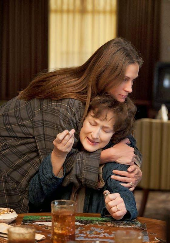 Julia Roberts as Barbara Weston-Fordham and Meryl Streep as Violet Weston in AUGUST: OSAGE COUNTY