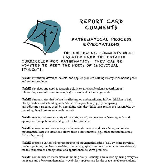 14 best Report card comments images on Pinterest Language - problem report