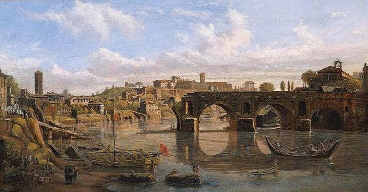 El Puente Roto sobre el río Tíber junto a la Colina del Aventino