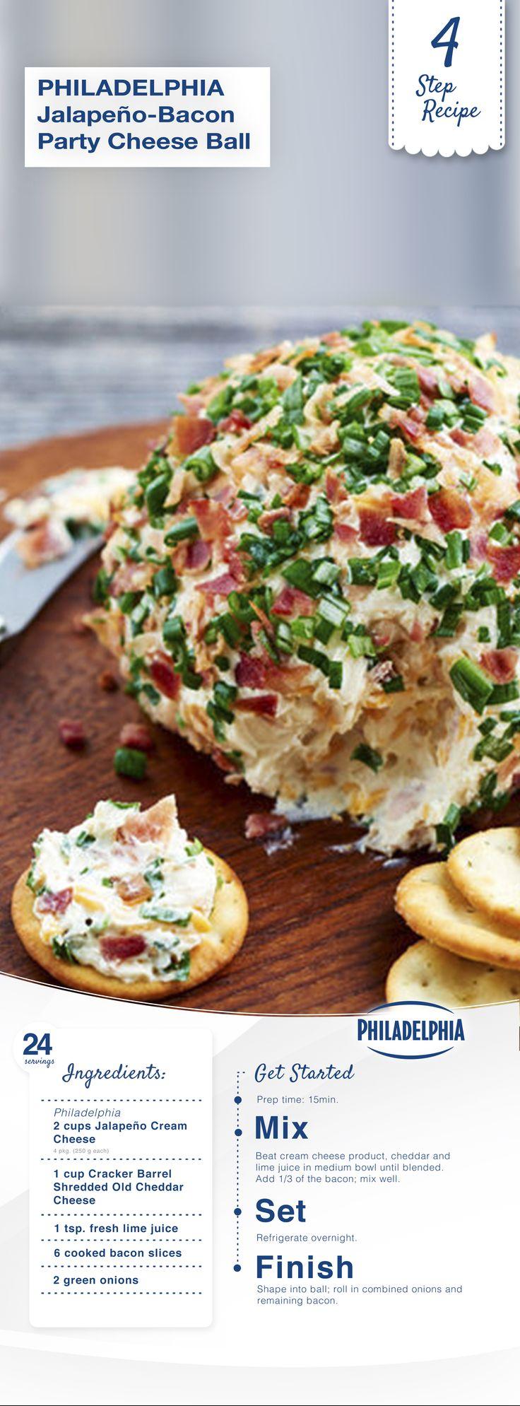 Jalapeño-Bacon Party Cheese Ball