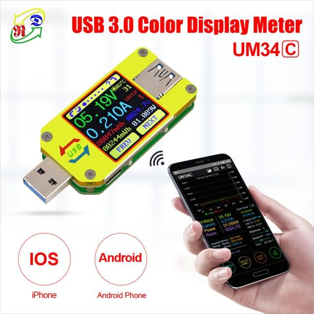 USB Charger Doctor Voltage Current Meter Handy Battery Tester Power Detector Red