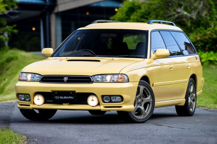 Subaru Legacy 2.0 GT-B Touring Wagon (BD) '1996–98 ::Terrible colour but awesome body shape!