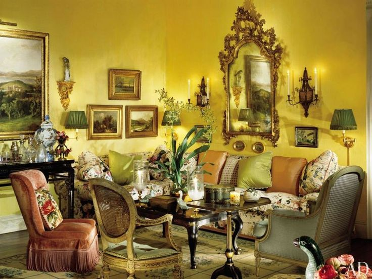 912 best luxury interior designs decorations and for Yellow painted rooms