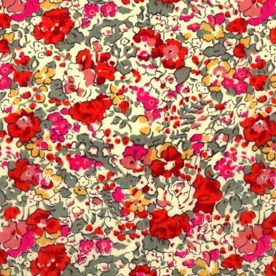 Liberty of London Claire Aude Red Fabric by Alicecarolinesupply, $17.50