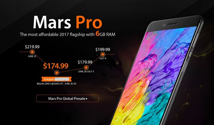 Vernee Mars Pro 4G Phablet, Special Offer from Gearbest