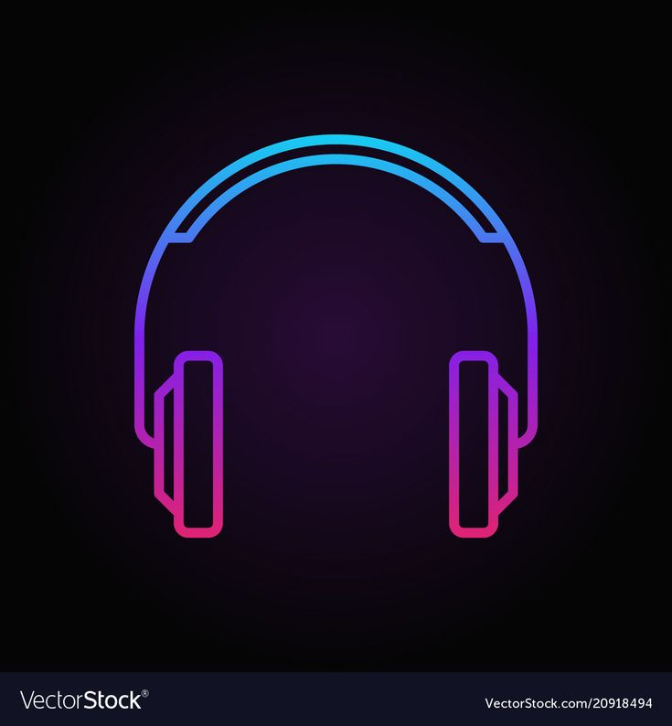 Colorful headphones simple vector icon or logo element in