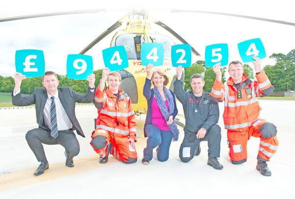 Yorkshire Air Ambulance (YAA) has received its largest ever single donation, getting plans for a new helicopter off to a flying start.  The donation of £944,254 was made by Yorkshire Building Society based on deposits placed in its Yorkshire Air Ambulance affinity savings accounts over the past year.  It will contribute towards the Charity's plans for a future replacement helicopter and takes the total donated by the Society to YAA since 2007 to more than £2 million.  Gary Lacey, Yorkshire…