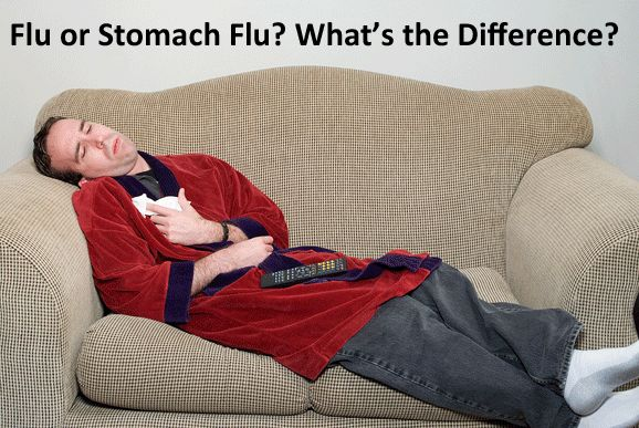 """What is the Difference Between the Flu and a """"Stomach Flu?"""""""