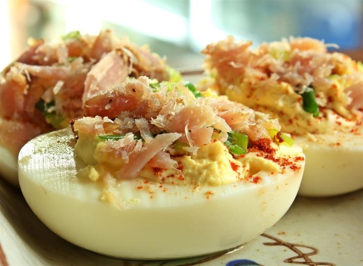 Smoked Yellowfin Tuna Deviled Eggs | Appetizers Soups Sauces Salads S ...