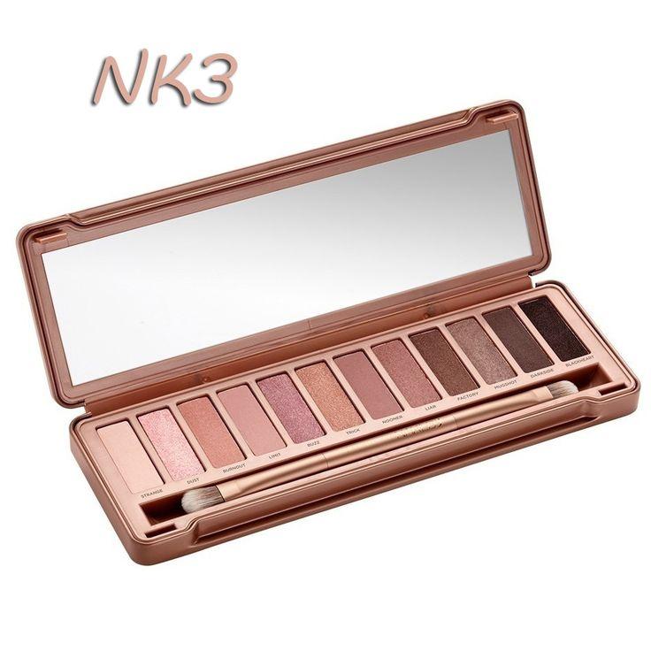 2014 groothandel make-up oogschaduw palet 3 nake nieuwe gift. Nk 3 12 kleuren oogschaduw borstel make-up set