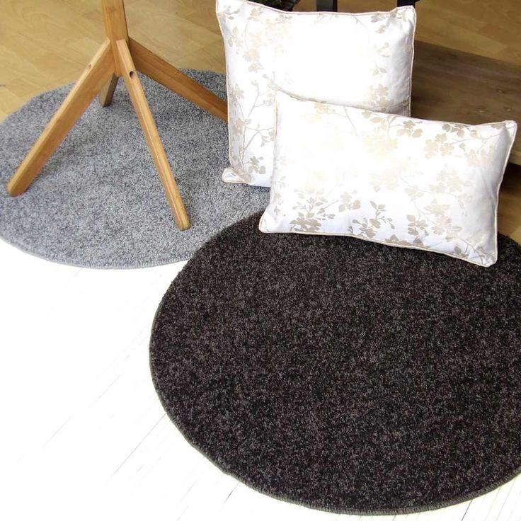Alfombras redondas y antideslizantes en tonos grises